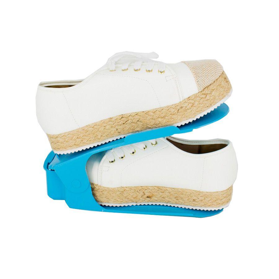 Organizador de Sapato Rack 100 unidades Azul -Regulagem de Altura  - Shop Ud