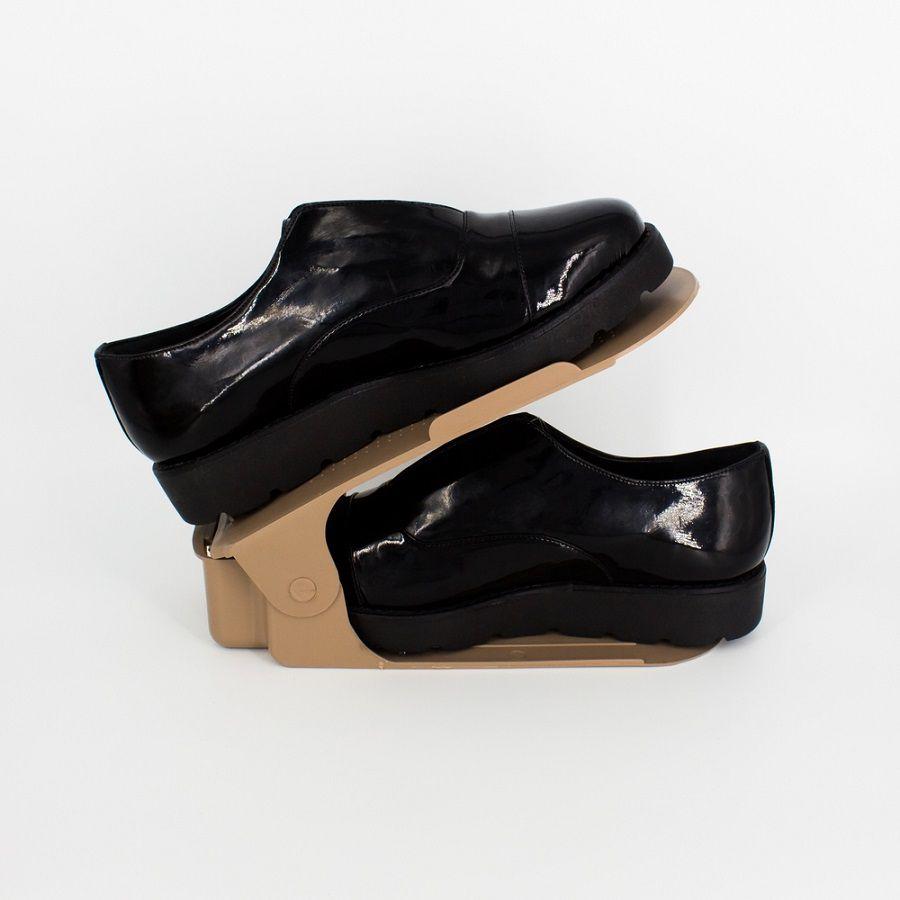 Organizador de Sapato Rack com 100 unidades Marrom Regulável  - Shop Ud