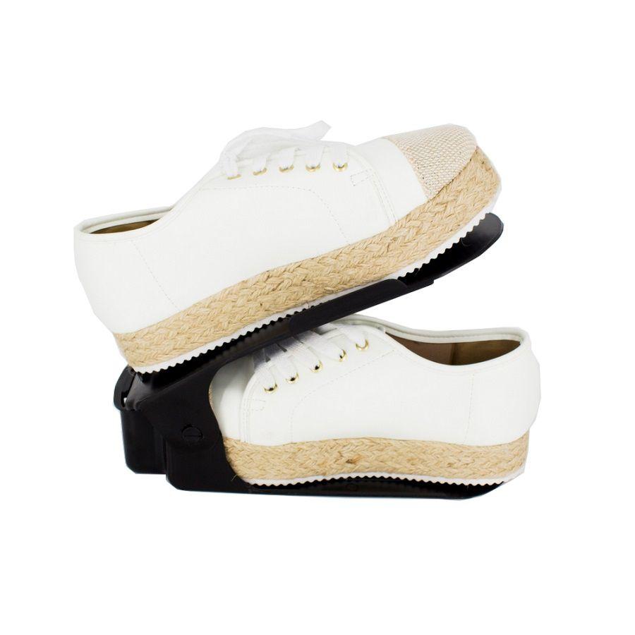 Organizador de Sapato Rack com 100 unidades Preto com Regulagem de Altura  - Shop Ud