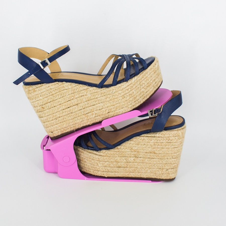 Organizador de Sapato Rack 100 unidades Rosa- Regulagem Altura  - Shop Ud