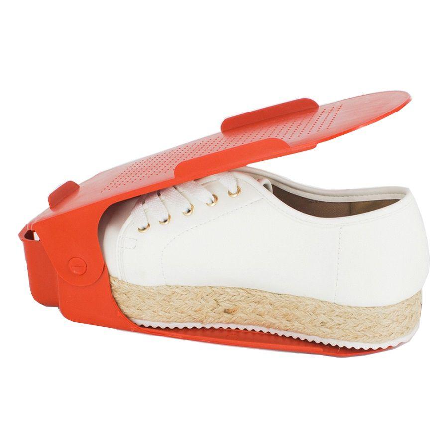 Organizador de Sapato Rack com 100 unidades Vermelho com Regulagem de Altura  - Shop Ud