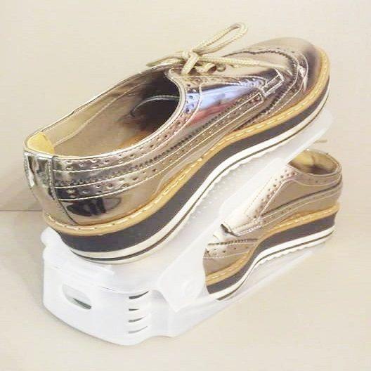 Organizador de Sapato Rack com 10 unidades Branco com Regulagem de Altura  - Shop Ud