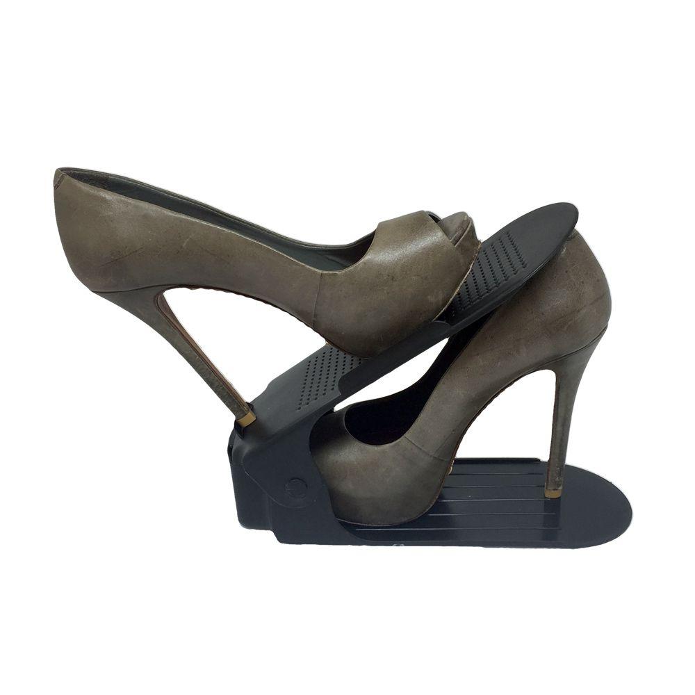 Organizador de Sapato Rack com 20 unidades Preto com Regulagem de Altura  - Shop Ud