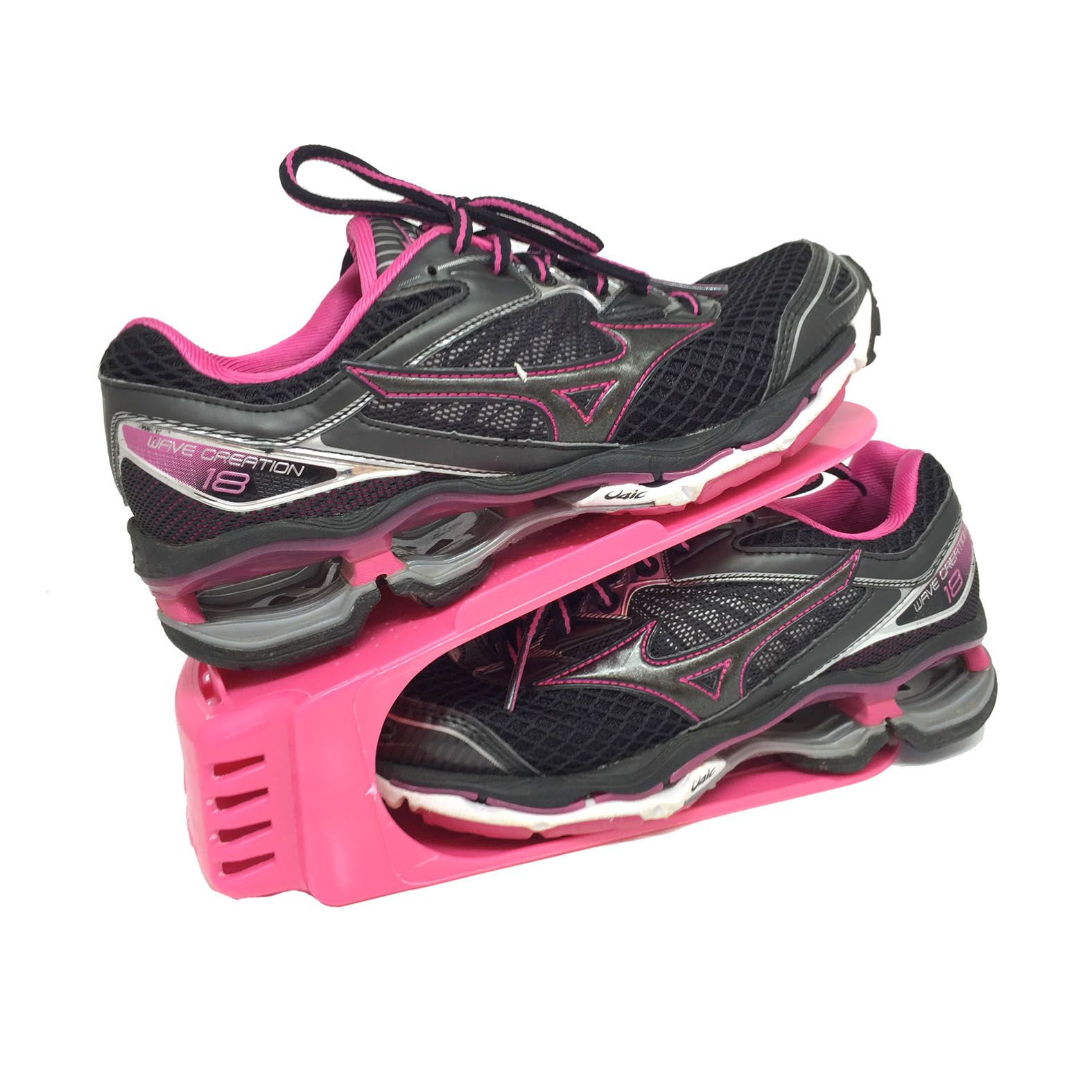 Organizador de Sapato Rack com 20 unidades Rosa  - Shop Ud