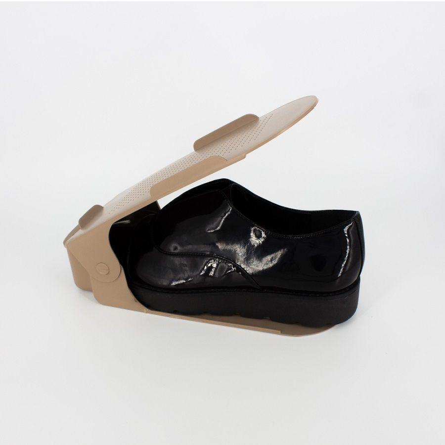 Organizador de Sapato Rack com 30 unidades Marrom Regulável  - Shop Ud