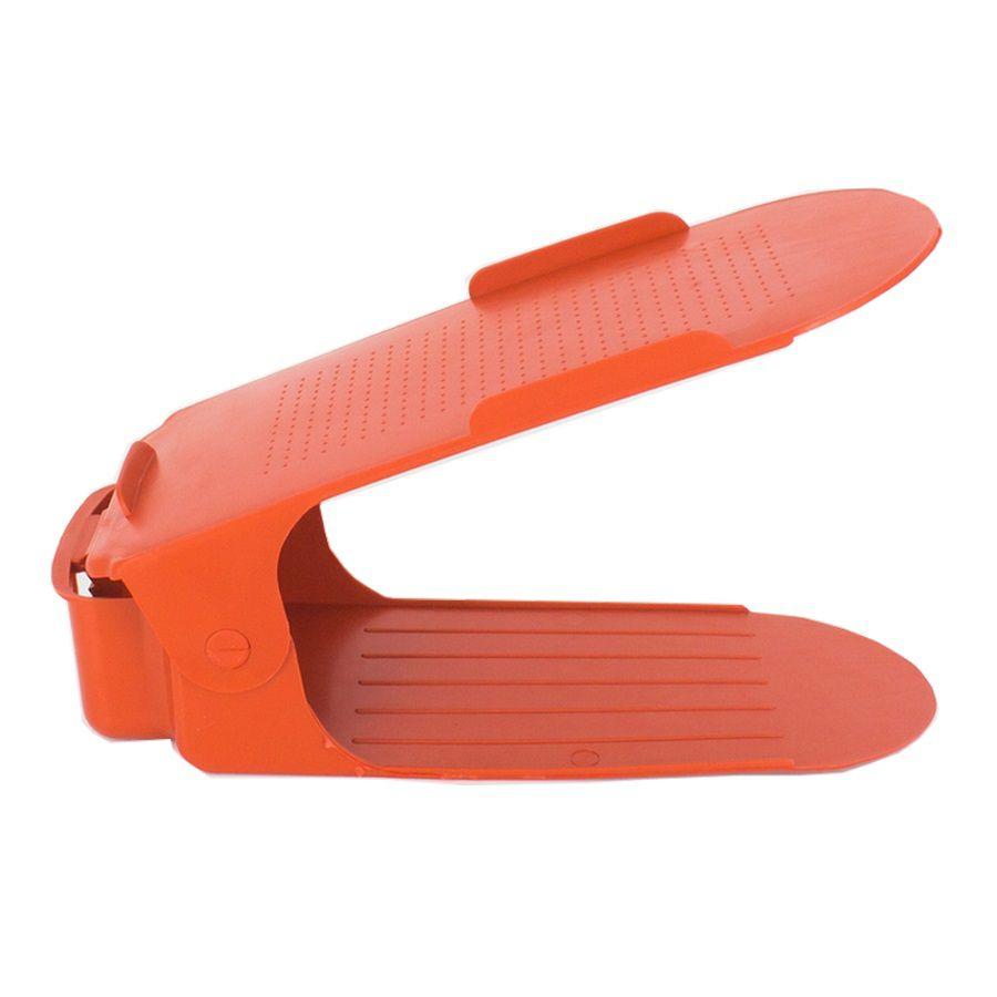 Organizador de Sapato Rack 30 unidades Vermelho Regulagem de Altura