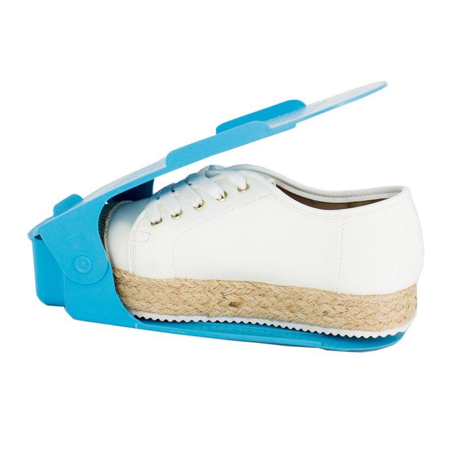 Organizador de Sapato Rack 40 unidades Azul -Regulagem de Altura  - Shop Ud
