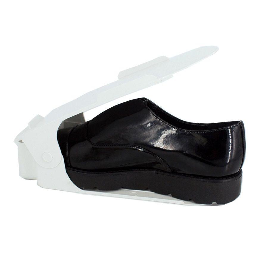 Organizador de Sapato Rack com 40 unidades Branco com Regulagem de Altura  - Shop Ud