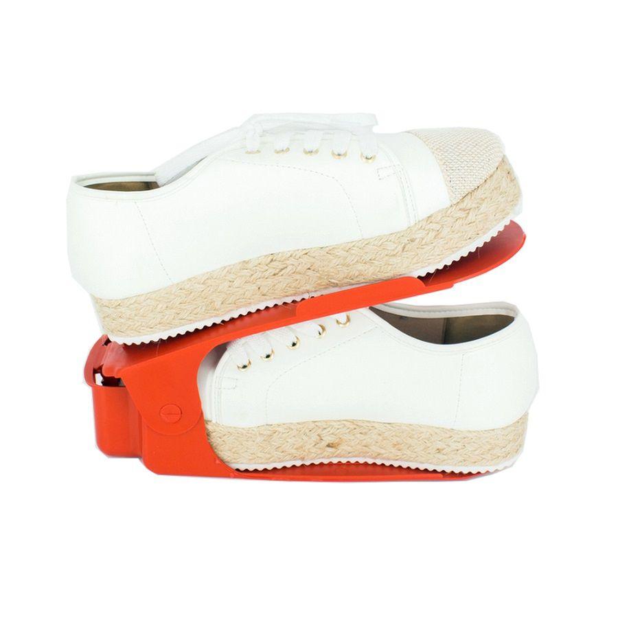 Organizador de Sapato Rack com 40 unidades Vermelho com Regulagem de Altura  - Shop Ud