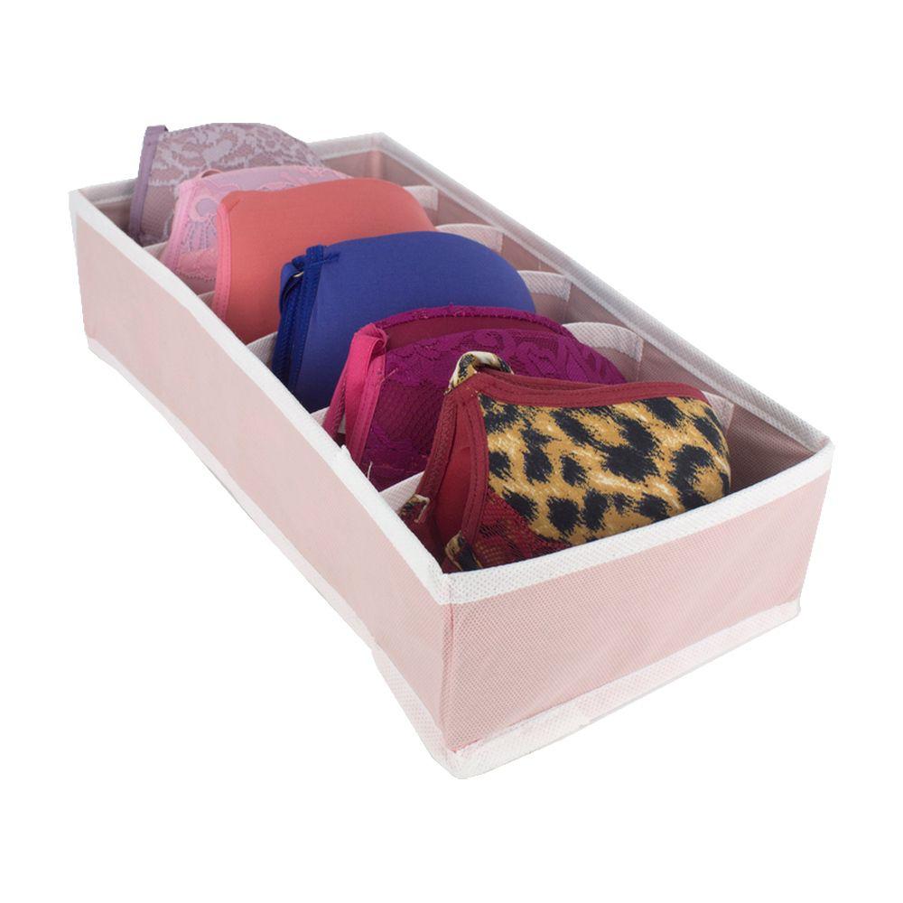 Organizador De Sutiã Com 6 Colmeias (P) - Rosa Bebê  - Shop Ud