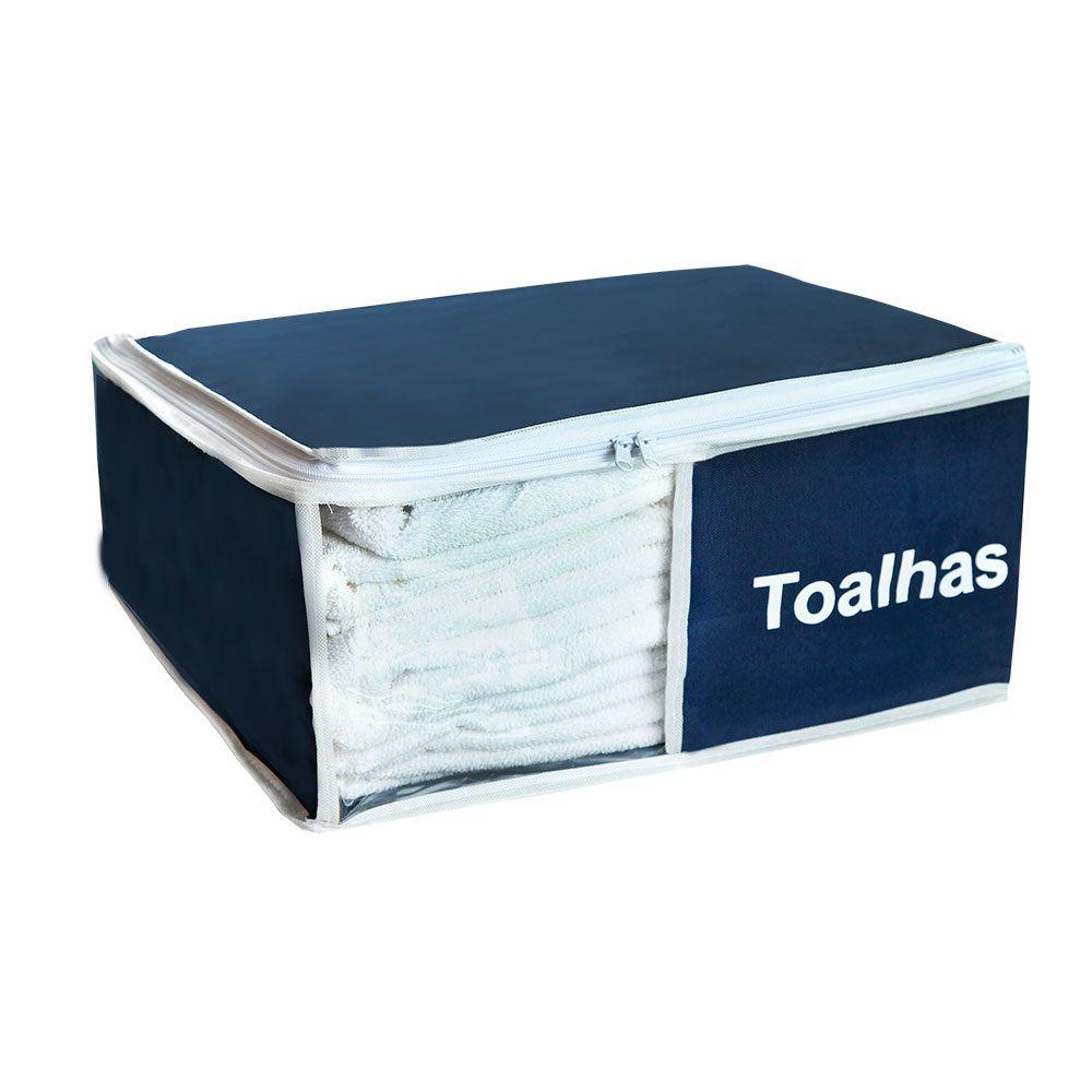 Organizador de Toalhas Azul Marinho 2 peças  - Shop Ud