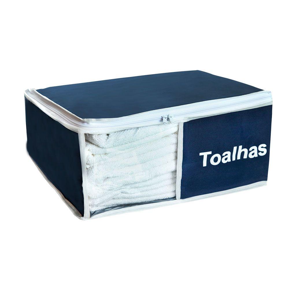 Organizador de Toalhas Azul Marinho 4 peças  - Shop Ud