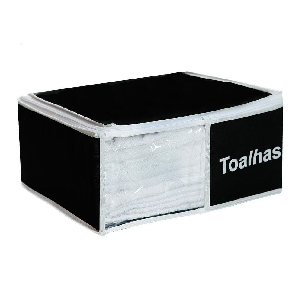 Organizador de Toalhas Preto 4 peças  - Shop Ud