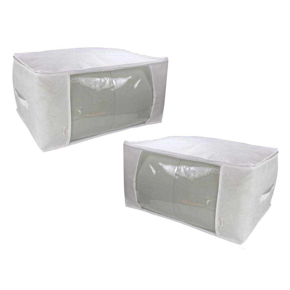 Organizador Multiuso Branco M- 60x45x30cm- 2 unidades  - Shop Ud