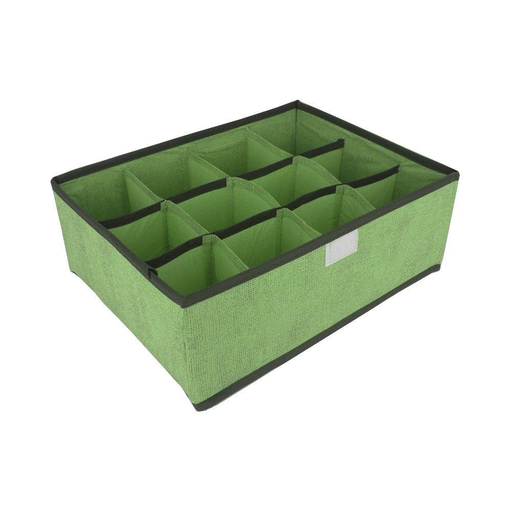 Organizador Multiuso Dobrável 12 Divisórias com Tampa Verde  - Shop Ud