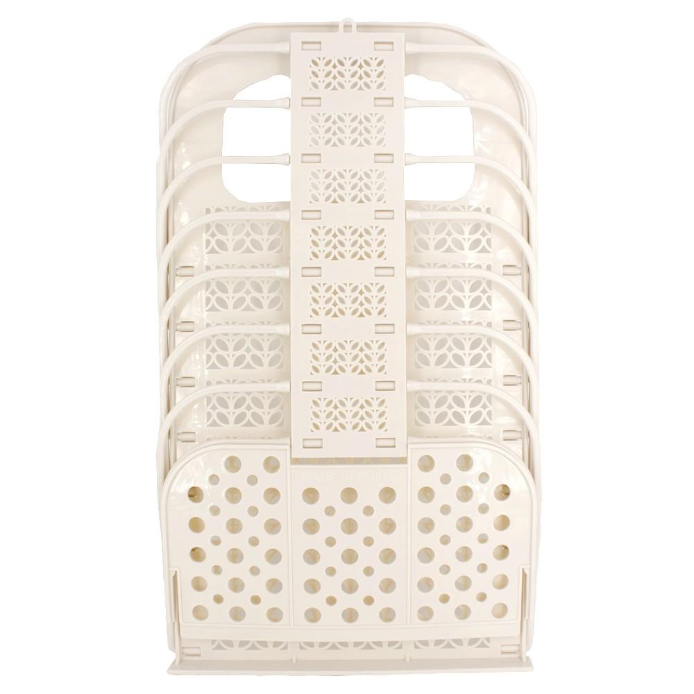 Organizador Multiuso Plástico com Gancho Colante Bege - 46,5 x 28cm  - Shop Ud