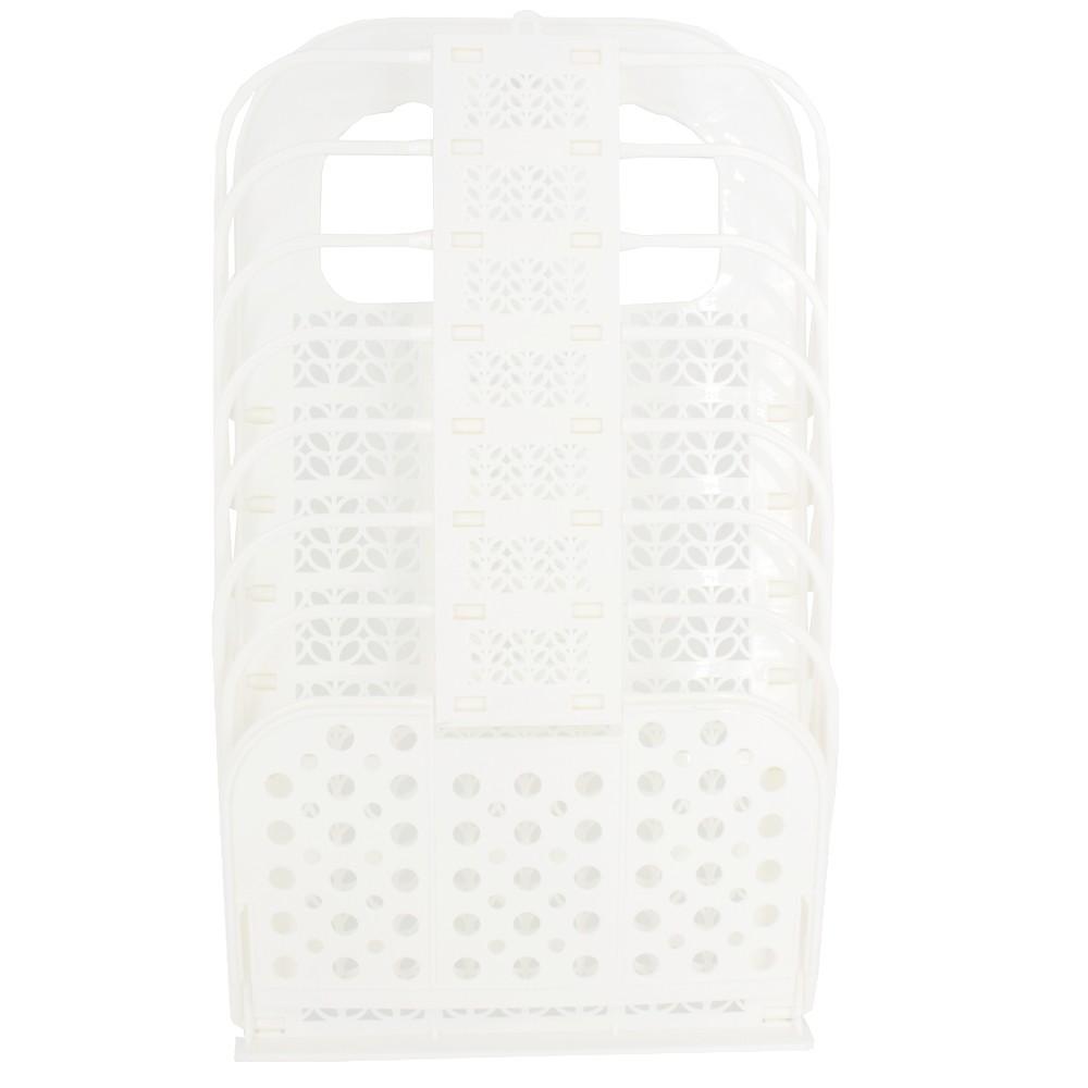 Organizador Multiuso Plástico com Gancho Colante Branco 46,5x28cm  - Shop Ud