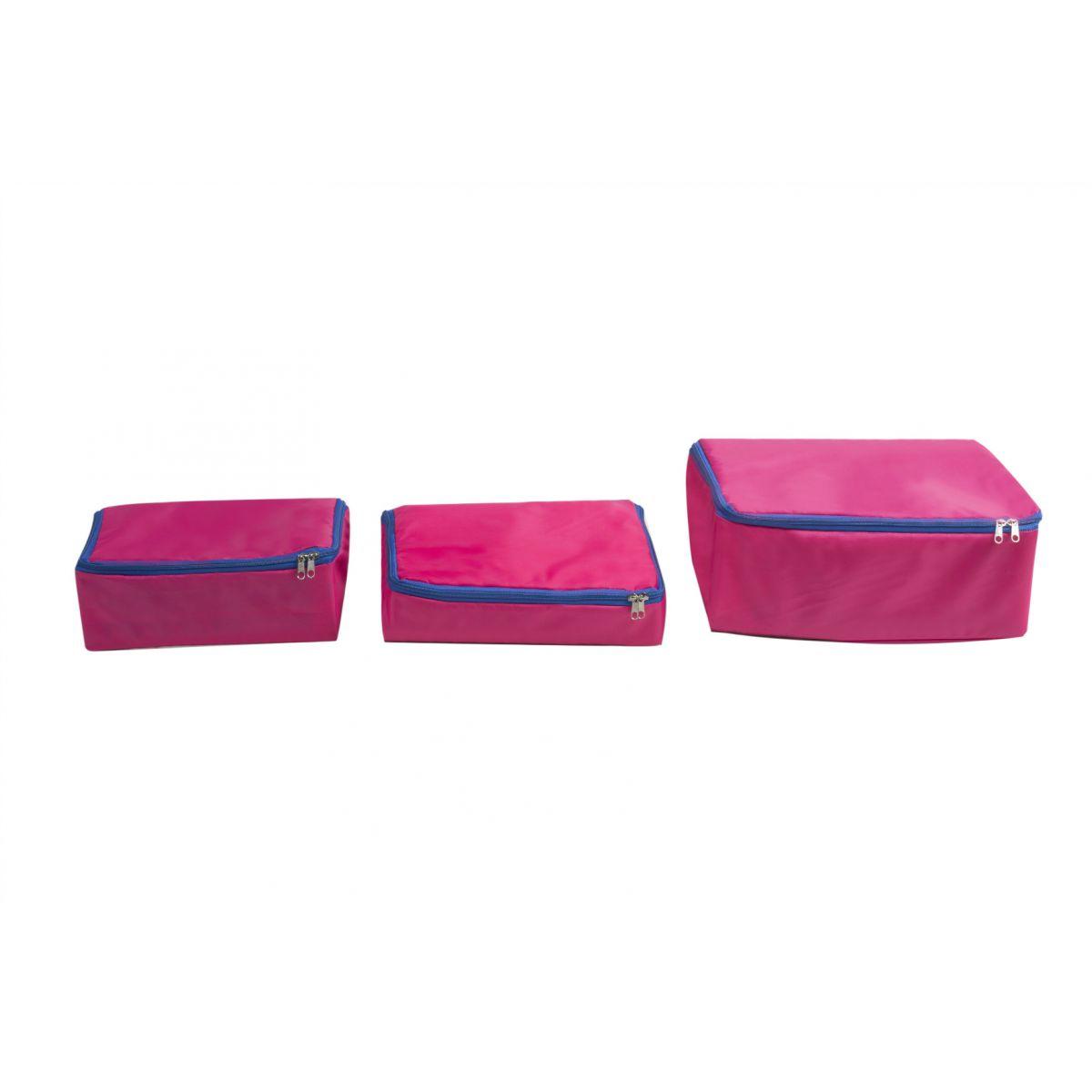 Organizador para Malas com 3 peças- ROSA  - Shop Ud