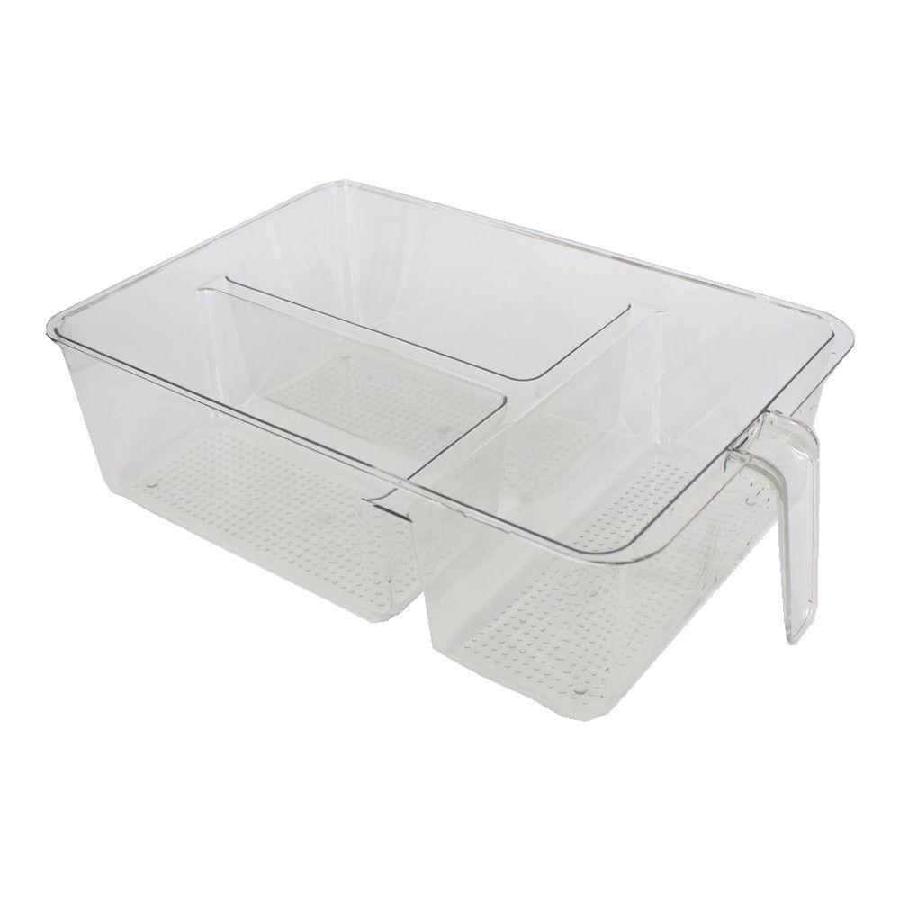 Organizador Plástico Multiuso Ideal Geladeira 03 Repartições  - Shop Ud