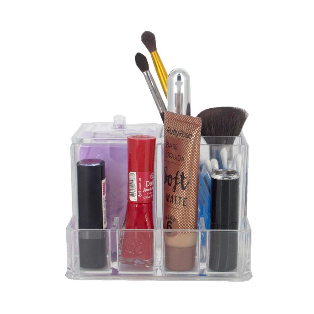 Organizador Porta Maquiagem Batom Esmalte Acrílico - 07 Divisões  - Shop Ud