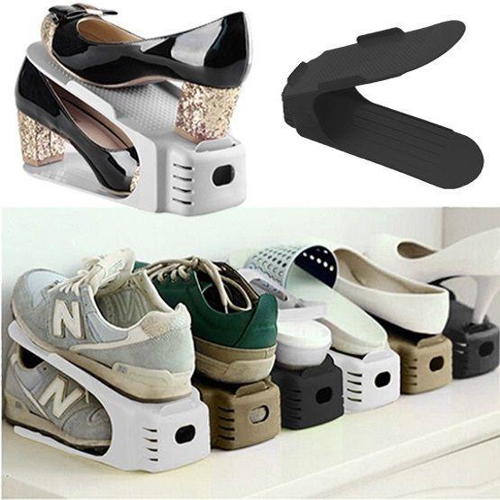 Organizador Rack Sapato 10 unidades Marrom  - Shop Ud