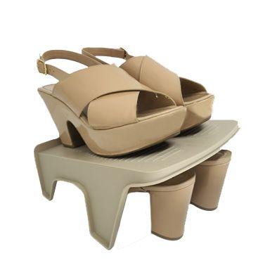 Organizador Rack Sapato 2 pares Bege   - Shop Ud