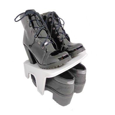 Organizador Rack Sapato 2 pares Cinza  - Shop Ud