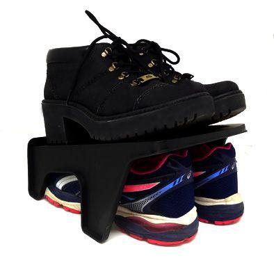 Organizador Rack Duplo Sapato 2 pares Preto  - Shop Ud