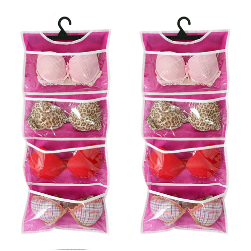 Organizadores de Sutiã de Bojo para Cabide Rosa - kit 2unids  - Shop Ud