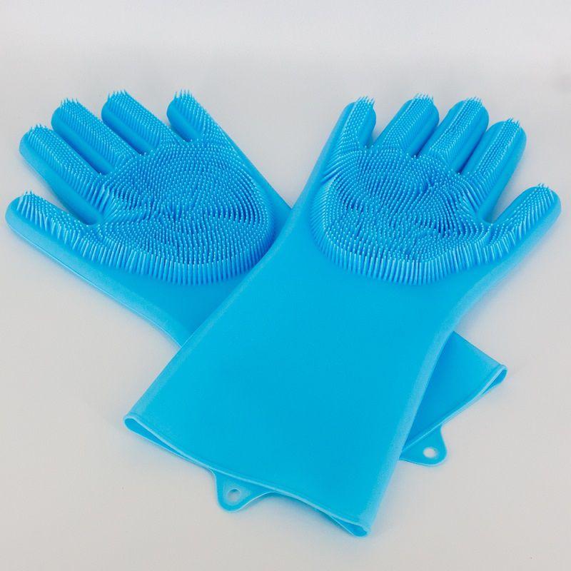 Par de Luvas Esponja Lava Louça Azul  - Shop Ud