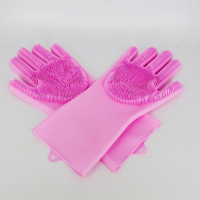 Par de Luvas Esponja Lava Louça Rosa  - Shop Ud
