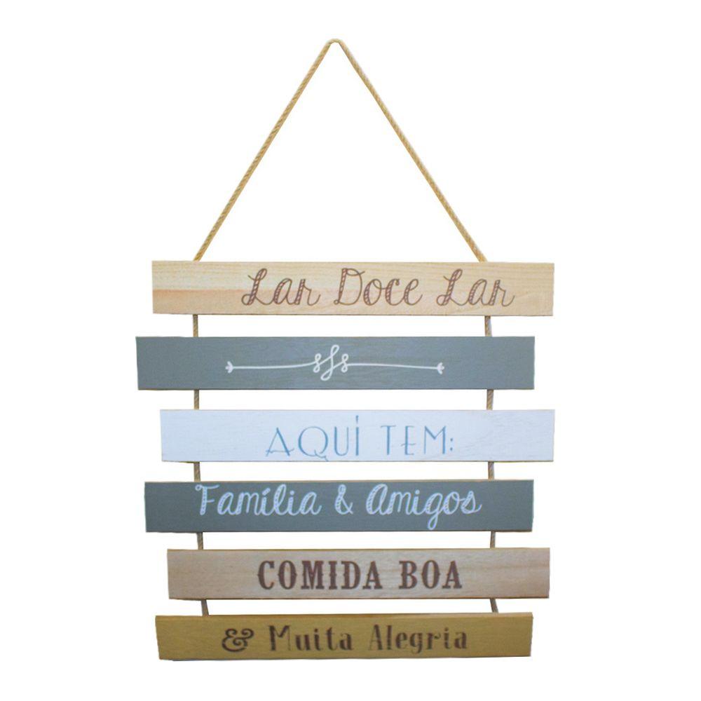 Placa Decorativa em Madeira – Lar Doce Lar