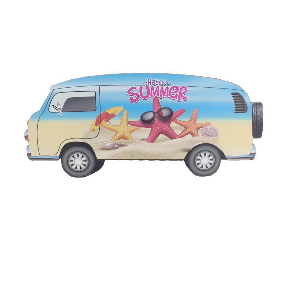 Placa Decorativa MDF Kombi - Hello Summer Estrela do Mar  - Shop Ud