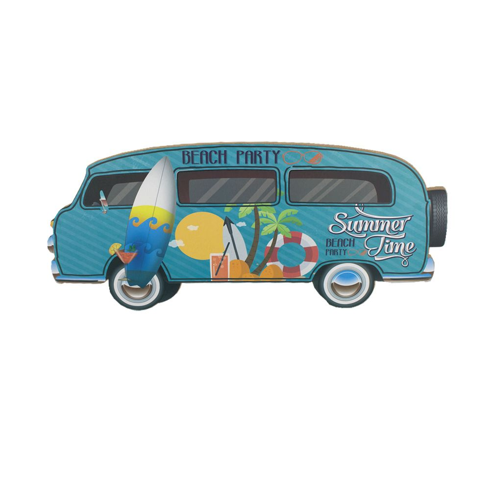Placa MDF Kombi Prancha Sol Coqueiro Summer Time Beach  - Shop Ud