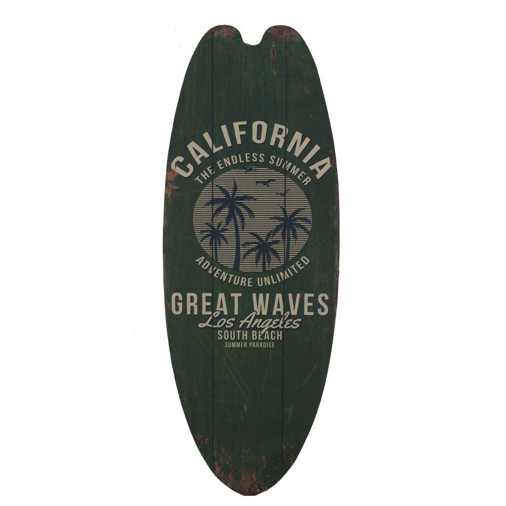 Placa Prancha Surf MDF Califa Endless Summer (Verde Musgo)  - Shop Ud