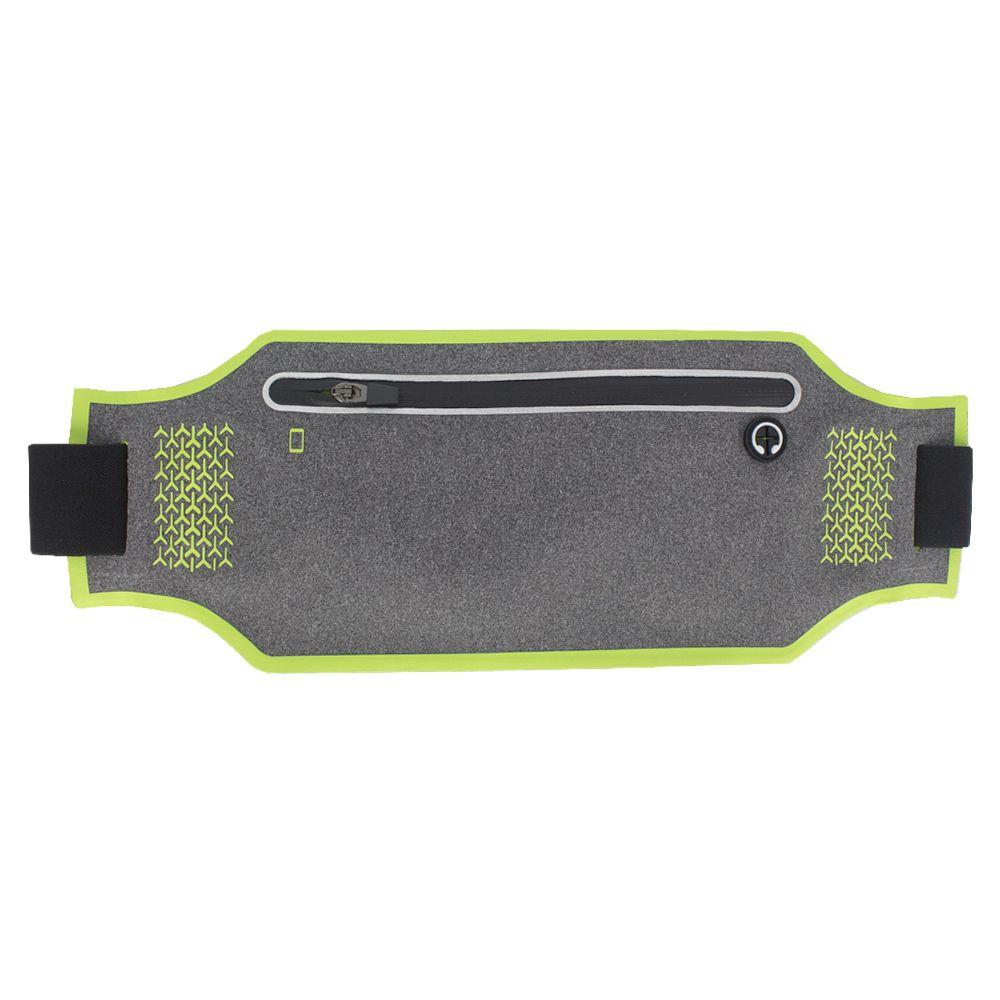 Pochete Esportiva Ajustável e Discreta - Cinza e Verde Limão