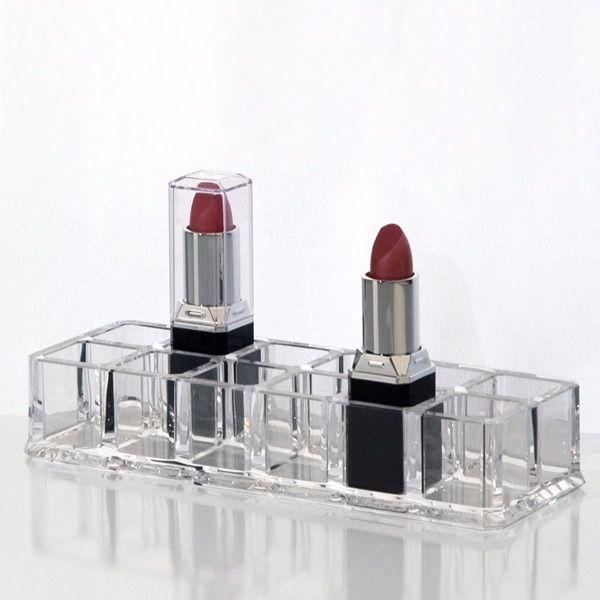 Porta Batom Maquiagem Organizador Com 12 Divisões Acrílico  - Shop Ud