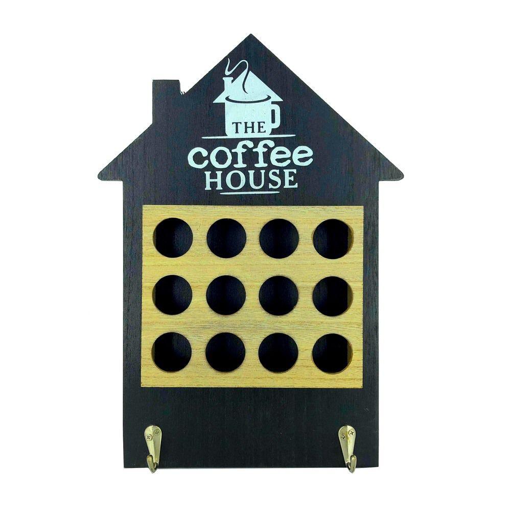 Porta Cápsulas de Café - Casa - 12 compartimentos - Preto  - Shop Ud