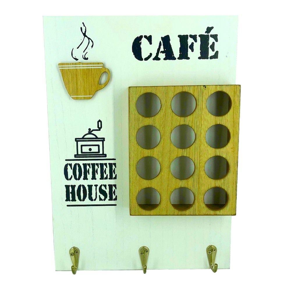 Porta Cápsulas de Café com 12 compartimentos - Branco  - Shop Ud