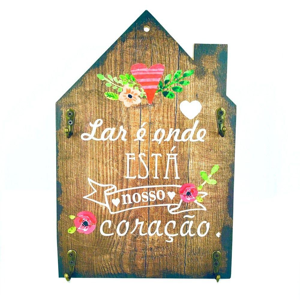 Porta Chaves Casa – Lar é onde está nosso coração