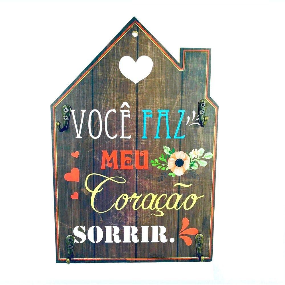 Porta Chaves Casa – Você faz o meu coração sorrir  - Shop Ud