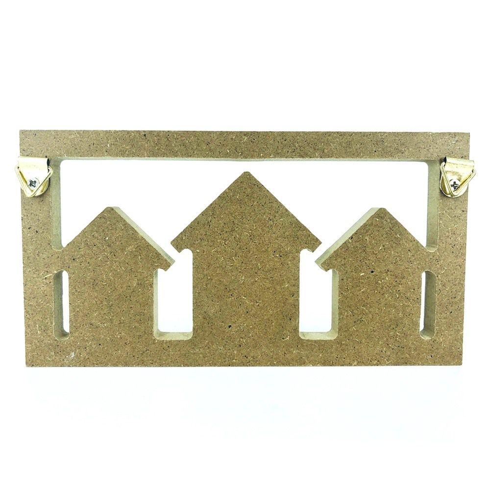 Porta Chaves com 03 Ganchos – Home Azul  - Shop Ud