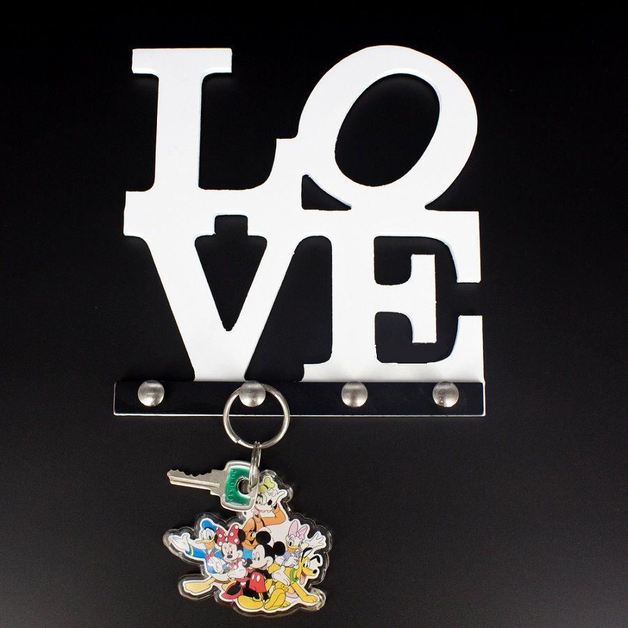 Porta Chaves Love  Branco  - Shop Ud