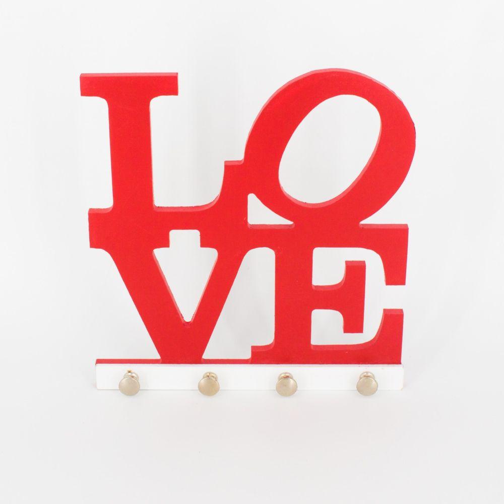 Porta Chaves Love  Vermelho