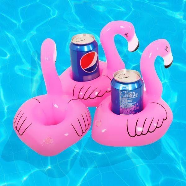 Porta Copo Boia Inflável Flamingo  - Shop Ud