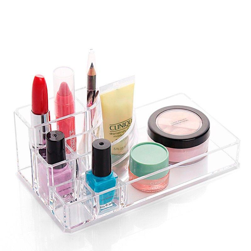 Porta Maquiagem Batom em Acrilico Retangular com 8 Divisórias  - Shop Ud
