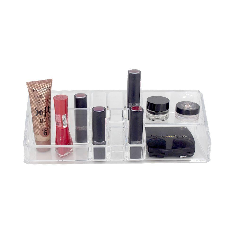 Porta Maquiagem Organizador Acrílico Batons Makes 14 nichos  - Shop Ud
