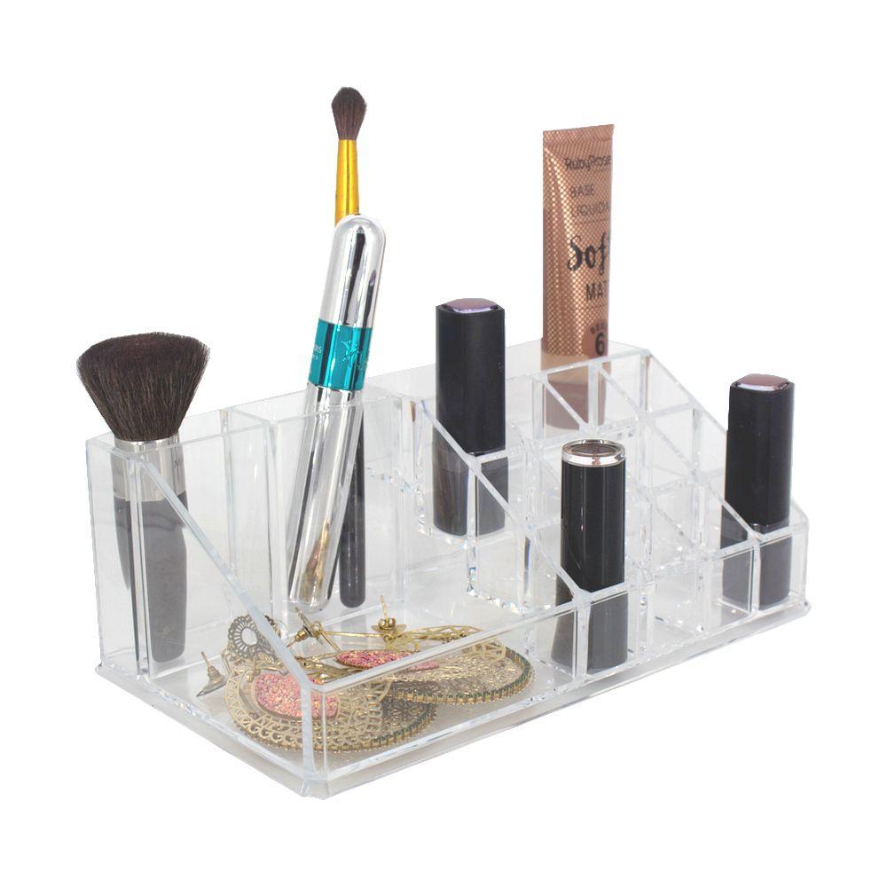 Porta Maquiagem Organizador Acrílico Batons Makes 16 Nichos