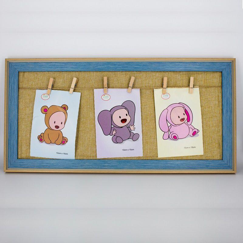 Porta Retrato Bebê Azul com Prendedor  - Shop Ud