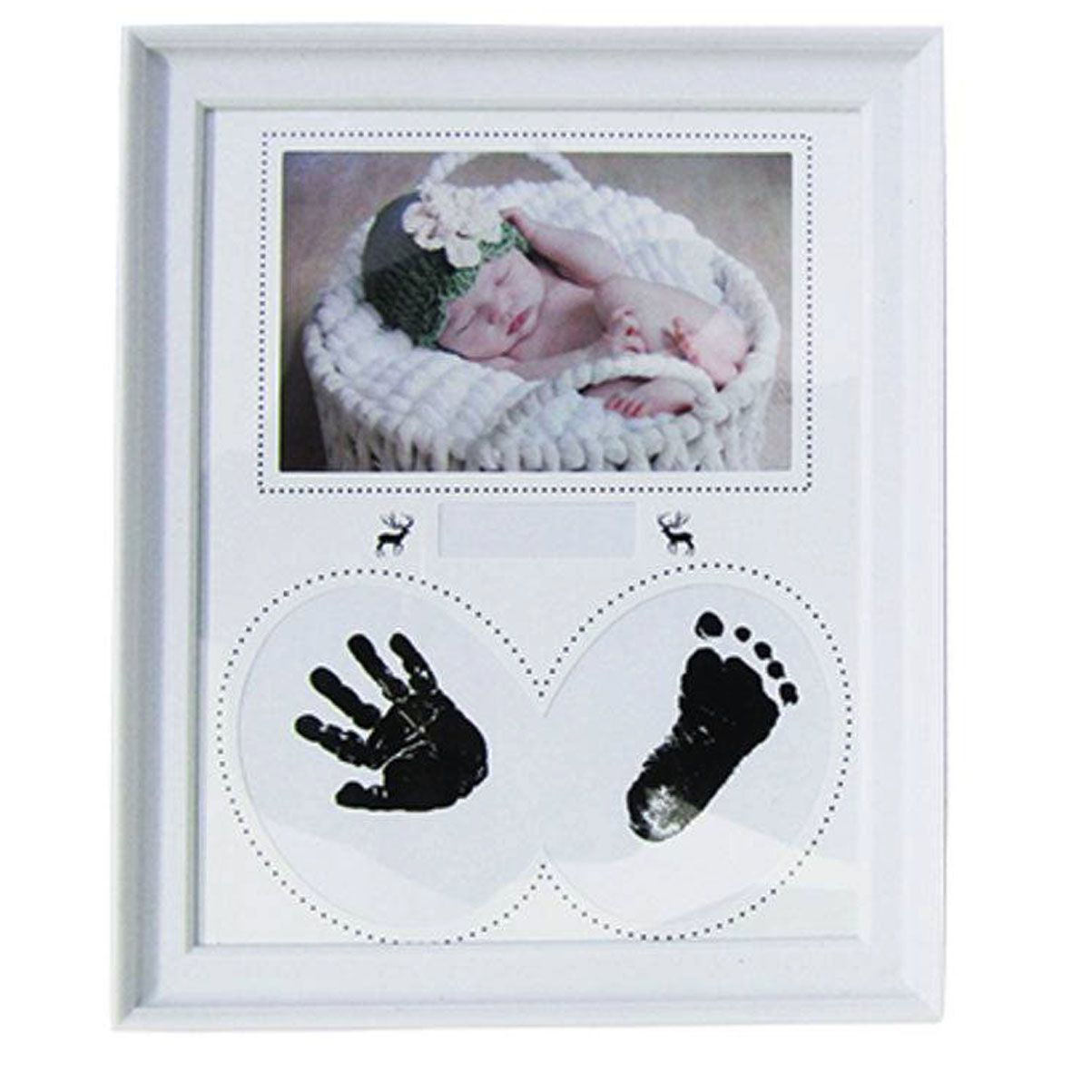 Porta Retrato Bebê Carimbo- Branco  - Shop Ud